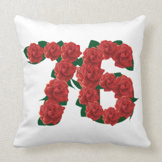 76  76th birthday anniversary number throw pillow