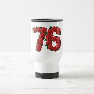 76  76th Birthday Anniversary number Travel Mug