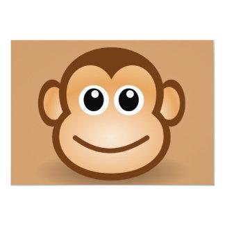 76-Free-Cute-Cartoon-Monkey-Clipart-Illustration Carton D'invitation 12,7 Cm X 17,78 Cm