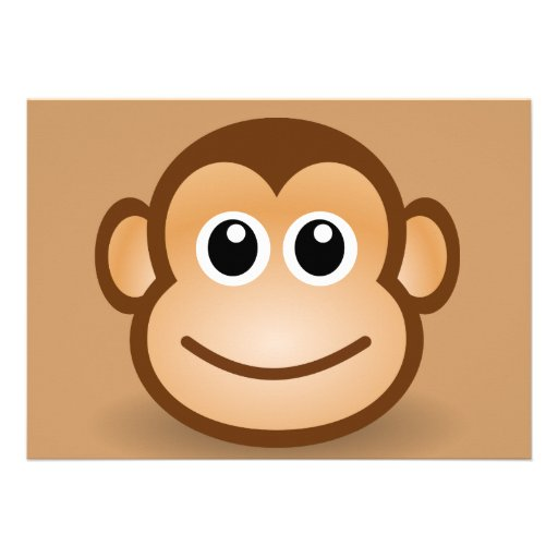 76-Free-Cute-Cartoon-Monkey-Clipart-Illustration Invitations Personnalisées