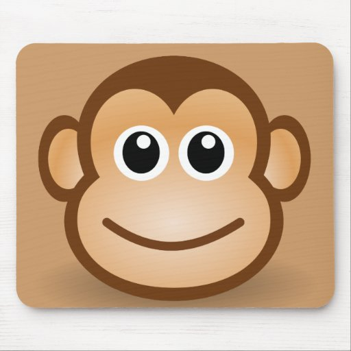 76-Free-Cute-Cartoon-Monkey-Clipart-Illustration Mouse Pads