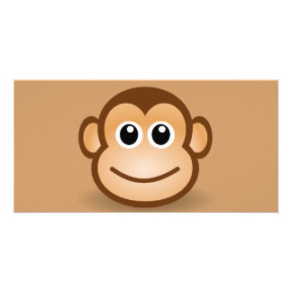 76-Free-Cute-Cartoon-Monkey-Clipart-Illustration Photo Greeting Card