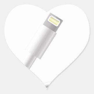 76Smart Phone Connector_rasterized Heart Sticker