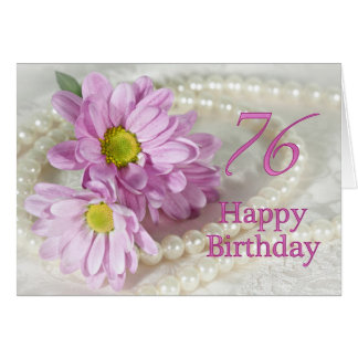 76th Birthday card with daisies