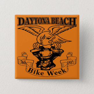 76th Daytona Beach Bike Week Eagle 1937 2 Inch Square Button