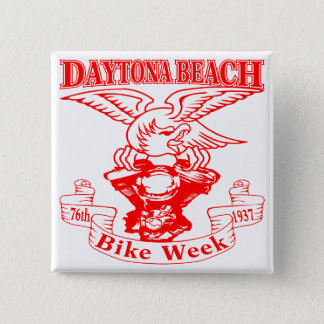 76th Daytona Beach Bike Week Eagle 1937r 2 Inch Square Button