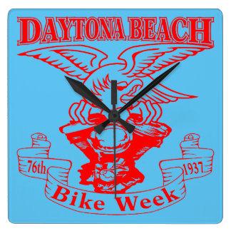 76th Daytona Beach Bike Week Eagle 1937r Wall Clocks