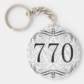 770 Area Code Basic Round Button Keychain
