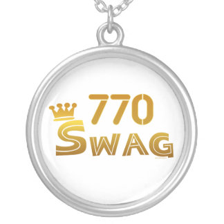 770 Georgia Swag Silver Plated Necklace