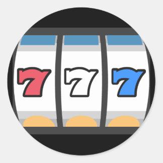 777 Lucky Slot Machine Round Sticker