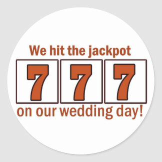 777 We hit the jackpot stickers