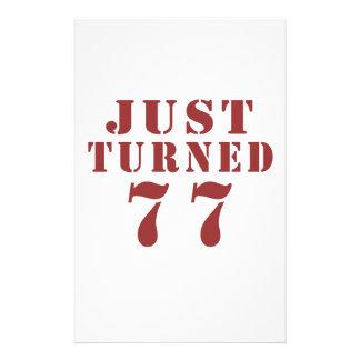 77 Just Turned Birthday Stationery