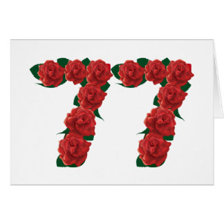 77  red floral card