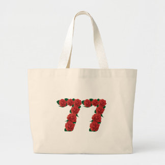 77  red floral large tote bag