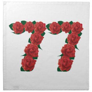 77  red floral napkin