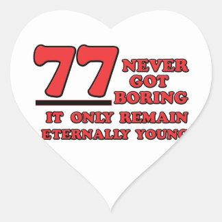77 years Old birthday designs Heart Sticker
