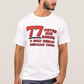 77 years Old birthday designs T-Shirt