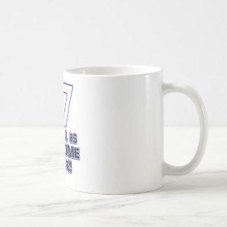 77th birthday design coffee mug