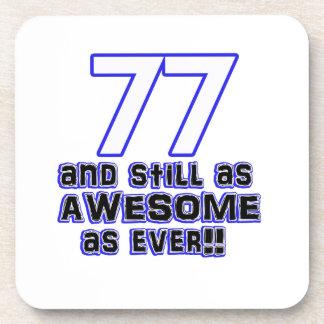 77th birthday design drink coasters
