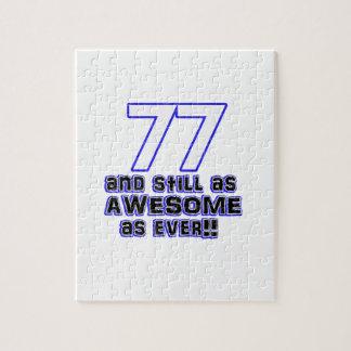 77th birthday design jigsaw puzzle