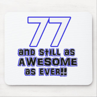 77th birthday design mouse pad