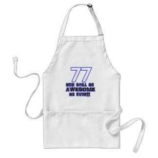 77th birthday design standard apron