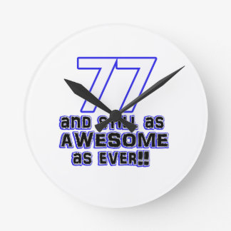 77th birthday design wall clocks