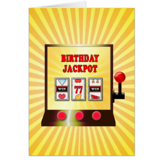 77th birthday slot machine card