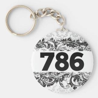 786 BASIC ROUND BUTTON KEYCHAIN