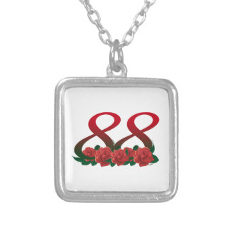78  78th birthday anniversary number silver plated necklace