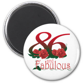 78 and fabulous  78th birthday number magnet