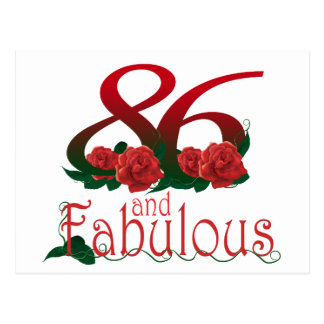 78 and fabulous  78th birthday number postcard
