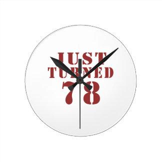 78 Just Turned Birthday Wallclock