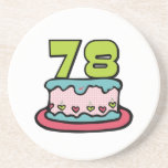 78 Year Old Birthday Cake Coaster