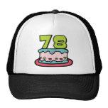 78 Year Old Birthday Cake Trucker Hat