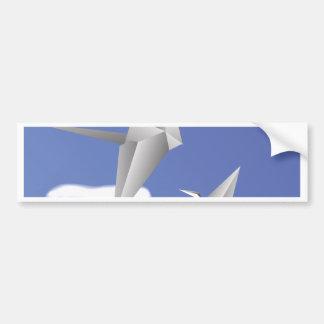 78Paper Birds _rasterized Bumper Sticker