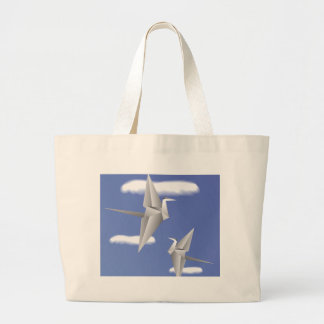 78Paper Birds _rasterized Large Tote Bag