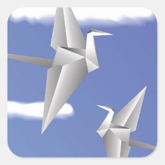 78Paper Birds _rasterized Square Sticker