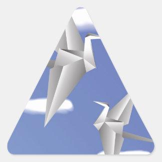 78Paper Birds _rasterized Triangle Sticker