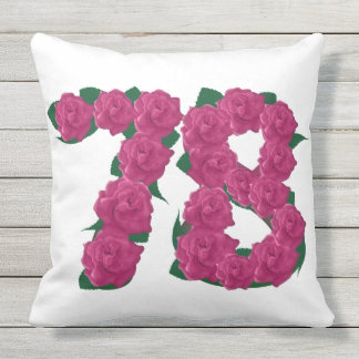 78th Anniversary Outdoor Throw Pillow