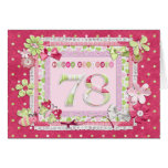 78th birthday scrapbooking style greeting card