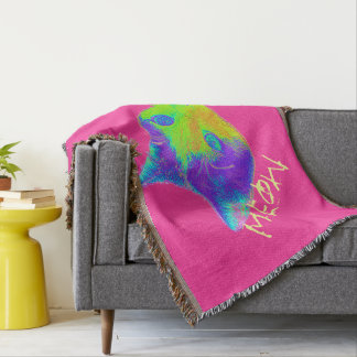 $79.95 /€ 63,05 Meow Kitty Pink throw blanket