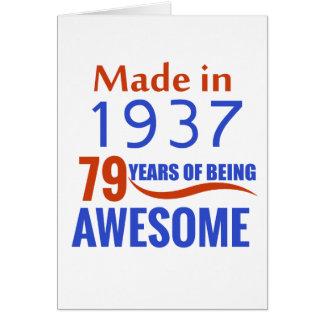 79 birthday design card