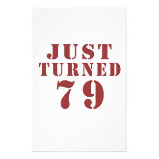 79 Just Turned Birthday Stationery