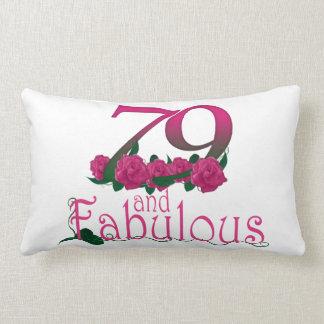 "79th birthday Lumbar Pillow 13"" x 21"""