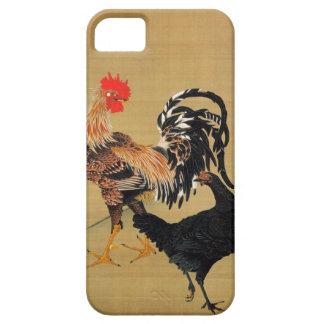 7. 大鶏雌雄図, 若冲 Couple of Chickens, Jakuchū iPhone 5 Covers