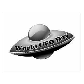 7-2 World UFO Day Postcard
