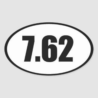 7.62 AK47 .308 OVAL STICKER