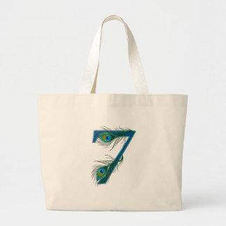 7 / 7th / number 7 / anniversary / 7th birthday jumbo tote bag