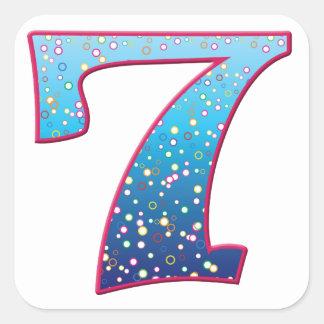 7 Age Rave Square Sticker